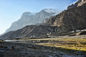 Alpine camp in the Pamir mountains