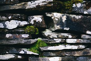 Natural Slate and Rock Wall Texture