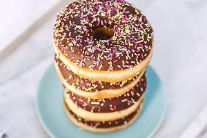 Donut Stack Stock Photo