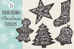 Christmas Overlays Set 7 - Vector