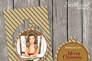 Gold Christmas Card Template - CC10