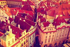 Red Prague roofs