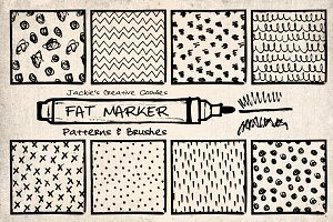 Fat Marker Patterns and Brushes