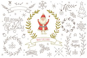 Christmas design elements kit
