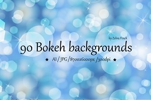 90 Bokeh backgrounds