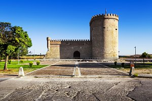 Castle of Arevalo in Avila, Spain.