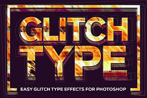 Glitch Type: Smart PSD Glitch Effect