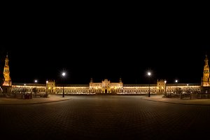 Panoramic of Spanish Square, Seville