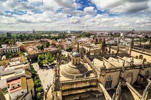 Panoramic view from  Giralda tower