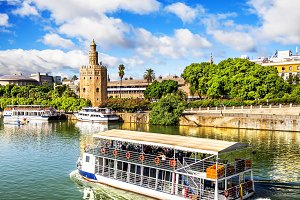 Golden Tower, Seville, Spain.