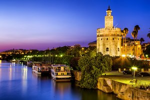 Golden tower sunset, Seville