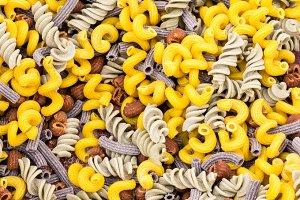 Mixed pasta display