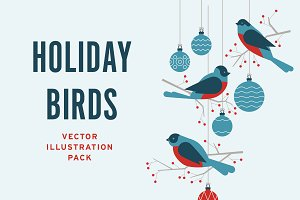 Winter Holiday Birds Pack