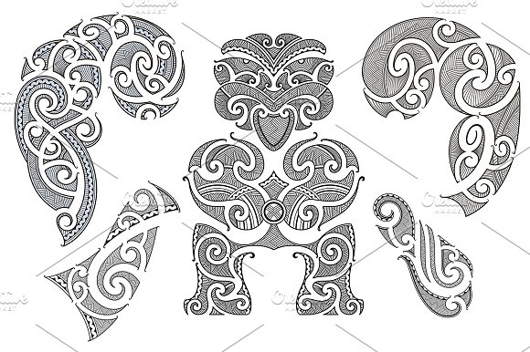 Maori Tattoo Patterns 40x Graphic Patterns Creative Market Beauteous Maori Patterns