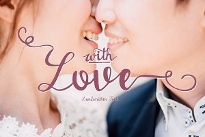 With love Handwritten font