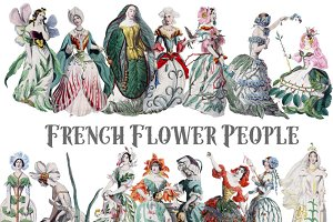 Vintage French Flower People