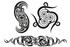 Tribal tattoo patterns (3x)