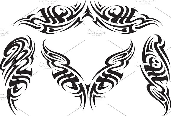 tribal tattoo patterns ~ graphic patterns ~ creative market