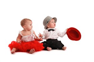 Valentine baby kids, fun couple