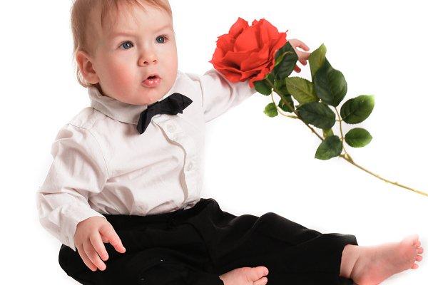 St. Valentine boy gentleman rose