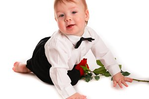 Baby boy gentleman, Valentine day