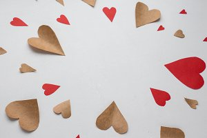 paper hearts for valentine's day
