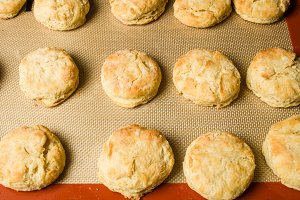 Fresh hot baked biscuits