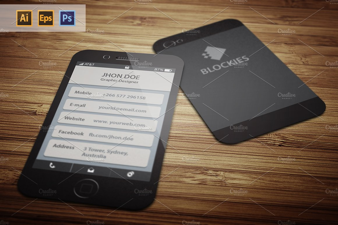 Iphone 6 (25% Off) Business Card ~ Business Card Templates ...