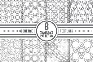 Linear geometric seamless patterns