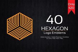 Hexagon Logo Emblems