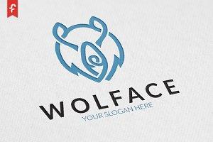 Wolf Face Logo