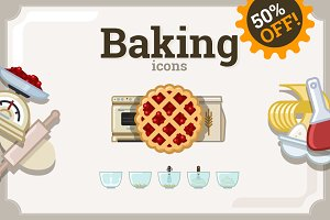 Baking icons set (69 + 66)