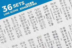 36 Sets. Line Icons.