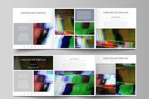 Glitched abstract vector backgrounds