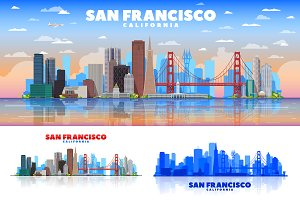 San Francisco vector skyline