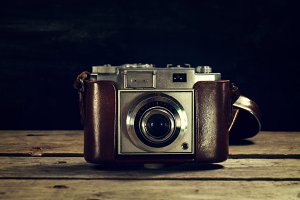 Vintage Concept.Old fashioned camera