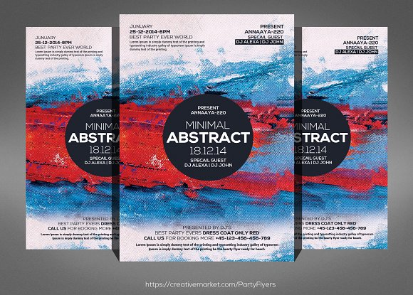 Minimal Abstract Flyer
