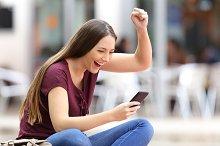woman receiving good news