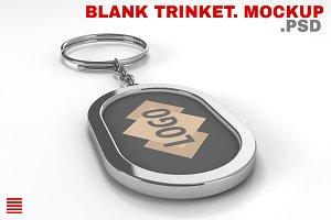Blank metal keychain. Mockup