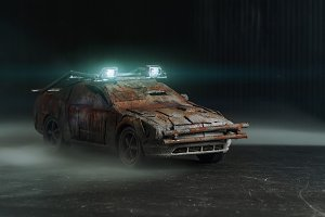 Post - apocalyptic car