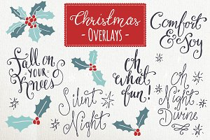 Christmas Overlays Set 6 - Vector