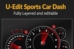 U-Edit Sports Car Dash