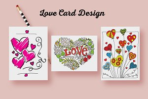 Valentine's Day Love Badge Card