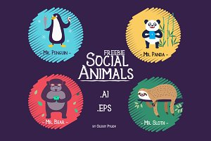 Wild and Social - Vector Freebie