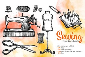 Sewing Sketch Set