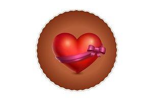 valentine gift heart illustration