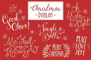 Christmas Overlays Set 5 - Vector