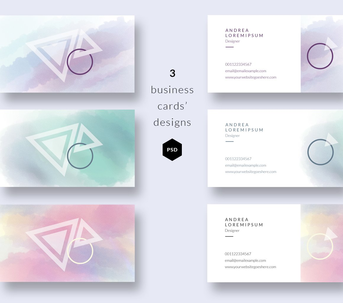 Watercolor business cards templates business card for Photo business card template