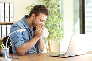 entrepreneur sneezing