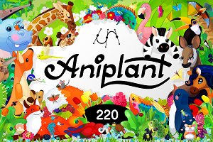 ❤ 220 species of animals & plants